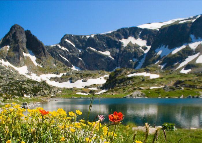 Alpine peaks in Rila, Bulgaria