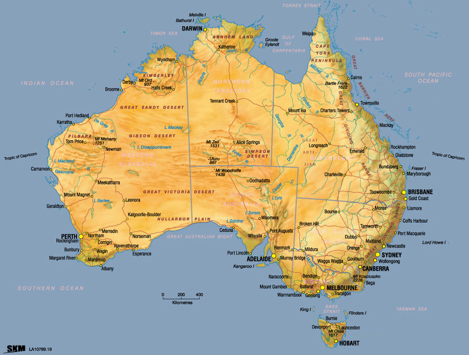 Maps Update 1000854 Map of Aus Australia Map Map of Australia – Eastern Australia Map