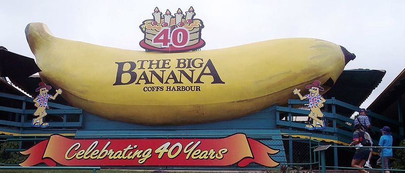 Big Banana in Coffs Harbour, Queensland, Australia