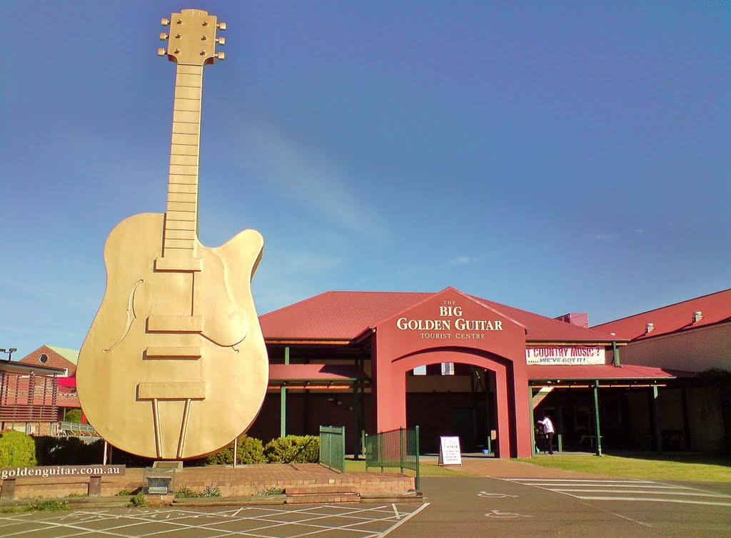 Big Golden Guitar in Tamworth, NSW, Australia