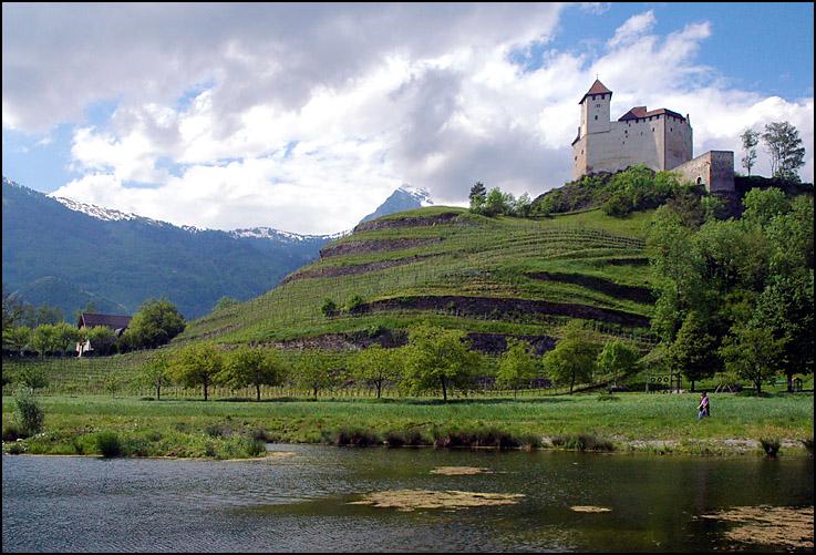Gothic Gutenberg Castle, Liechtenstein