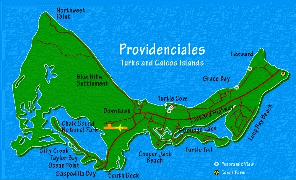 Providenciales Map