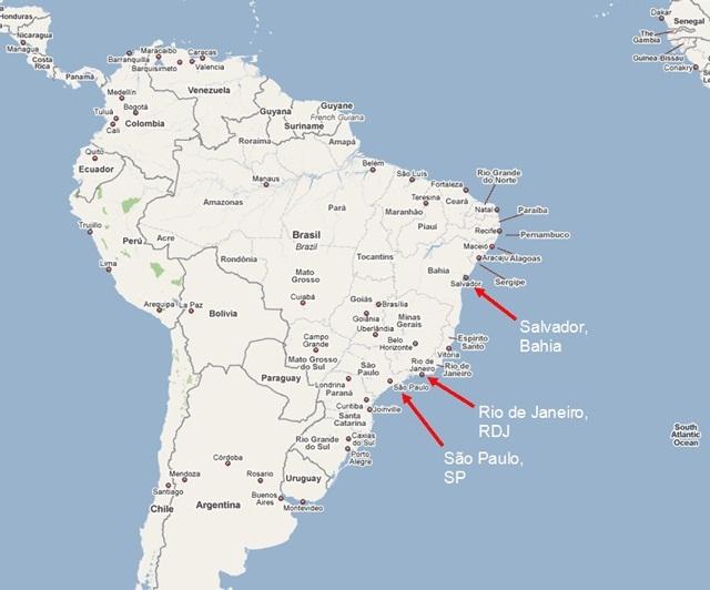 Salvador da Bahia Map