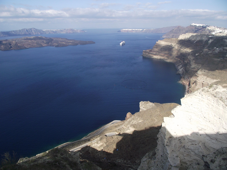 Santorini - the volcanic Caldera