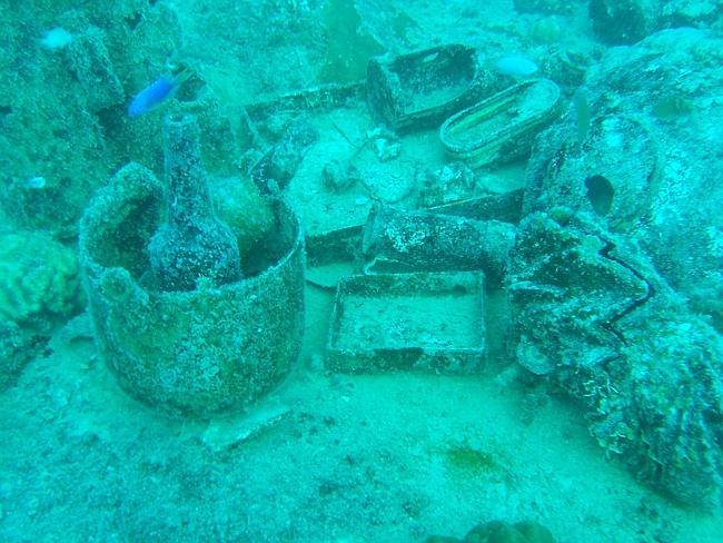 Underwater museum at Chuuk, Micronesia