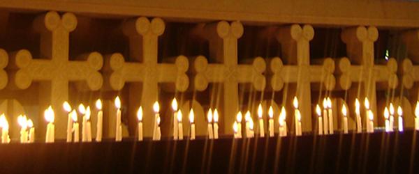 candle lit churches, Armenia