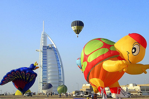 hot air balloon in dubai