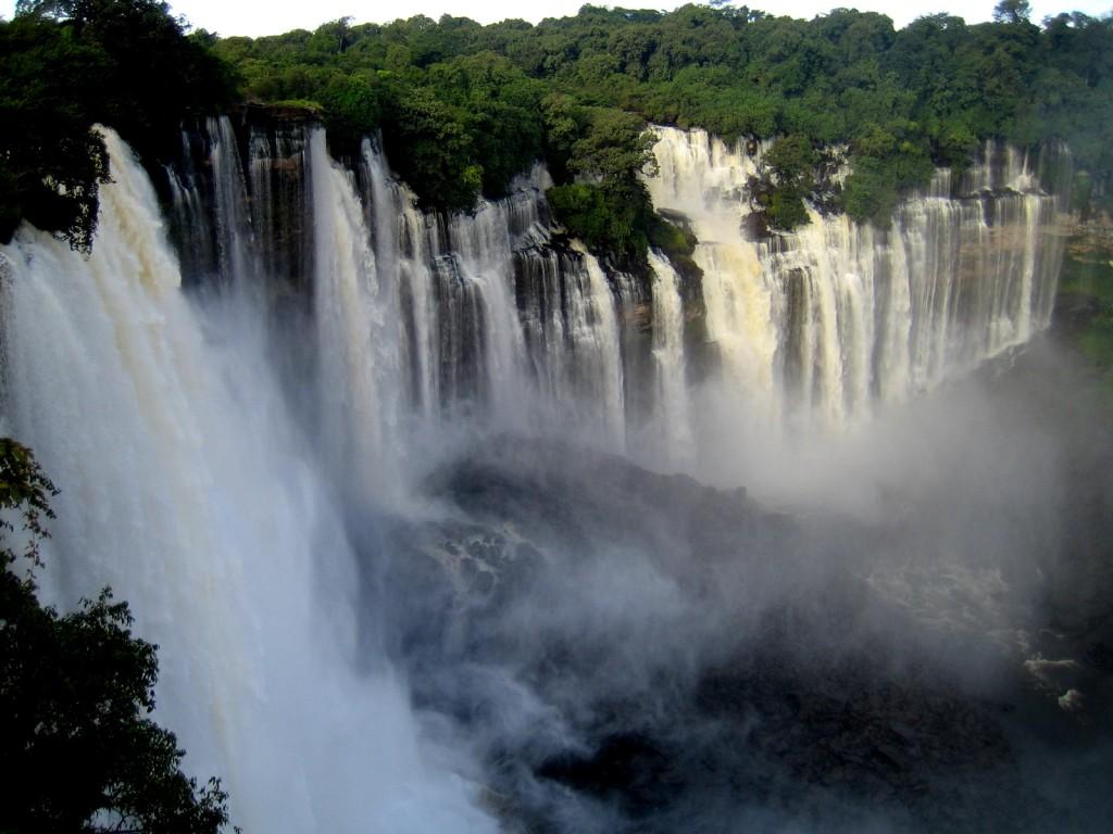 Kalandula waterfalls of the Lucala River in Malange, Angola