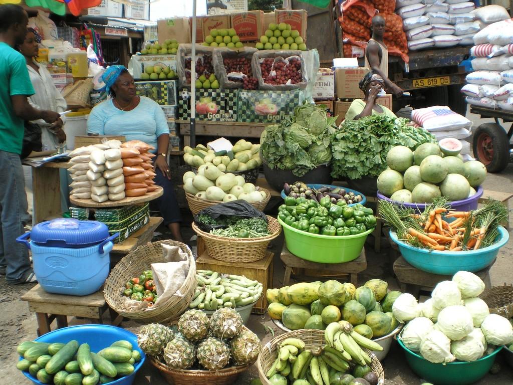 Vegetable seller, Ghana