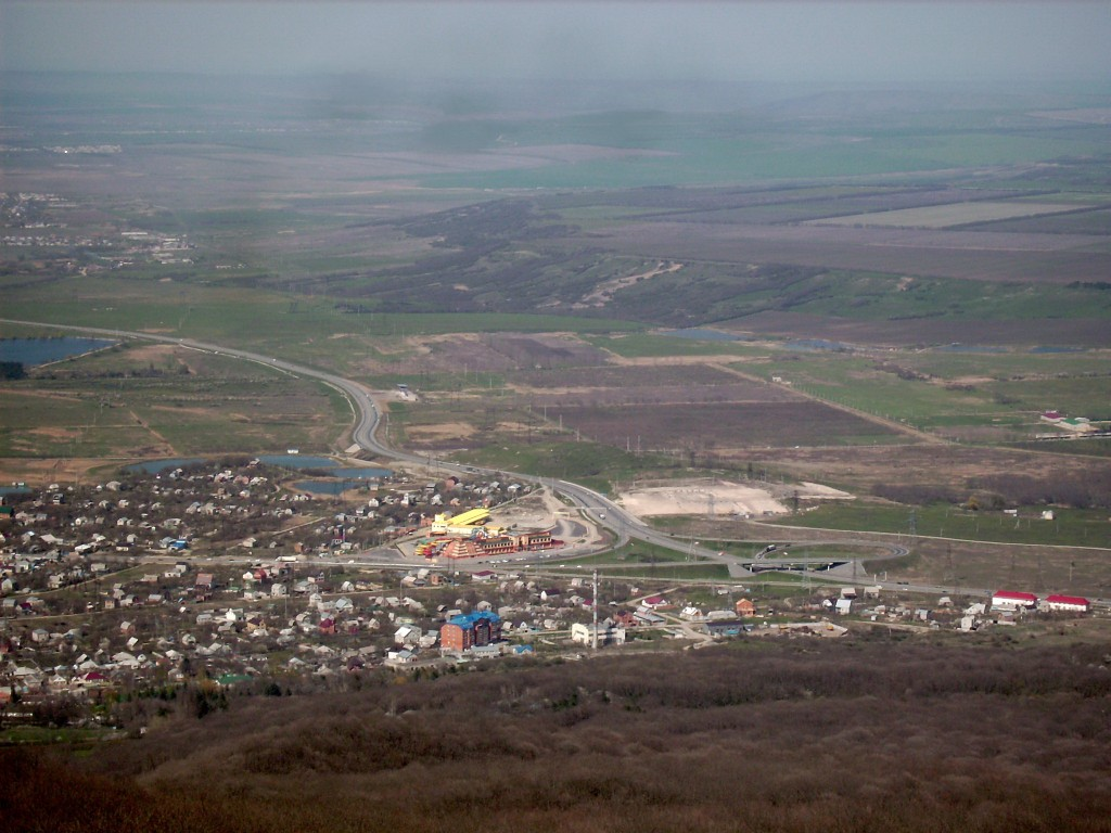 Russian highway in Pyatigorsk
