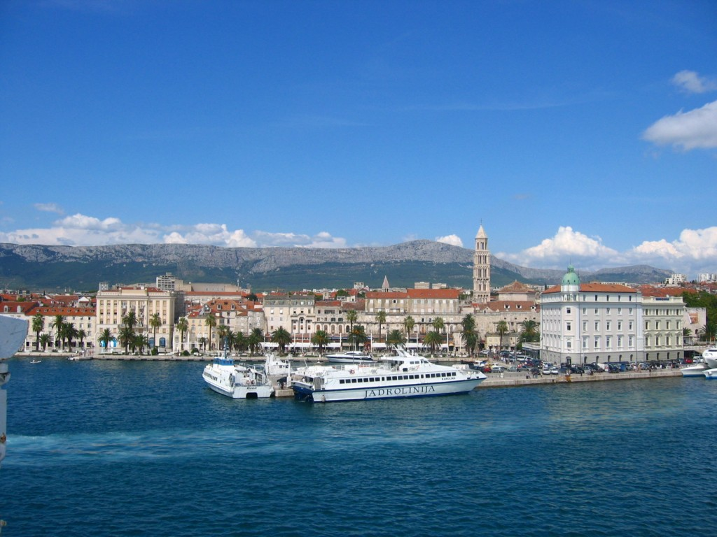 Split, Croatia from Ferry