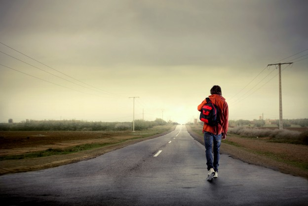 bigstock Young man walking on a country 13798088