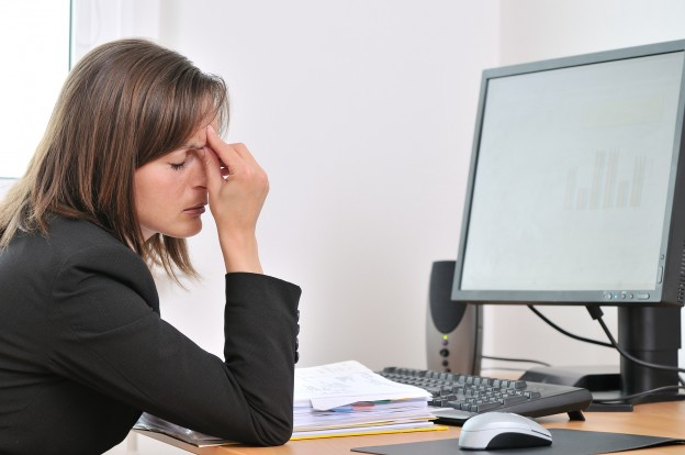 bigstock Tired Business Person With Hea 5695372