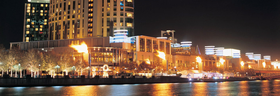 Crown Entertainment Complex at night