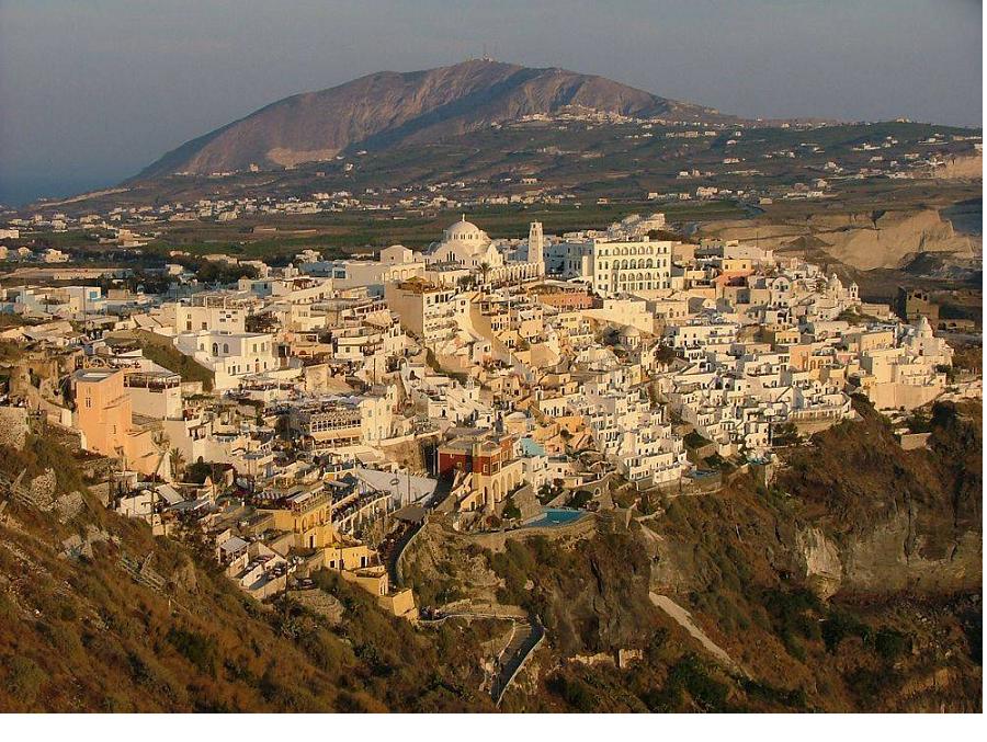 Fira, the capital of Santorini