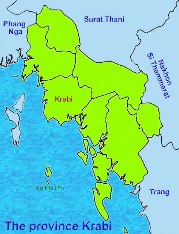 Krabi Province Map