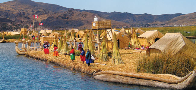 Lake Titicaca and Plant Reeds