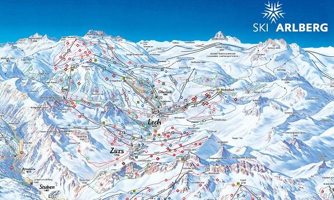 Lech Am Arlberg Map
