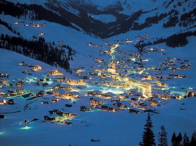 Lech Am Arlberg at Night