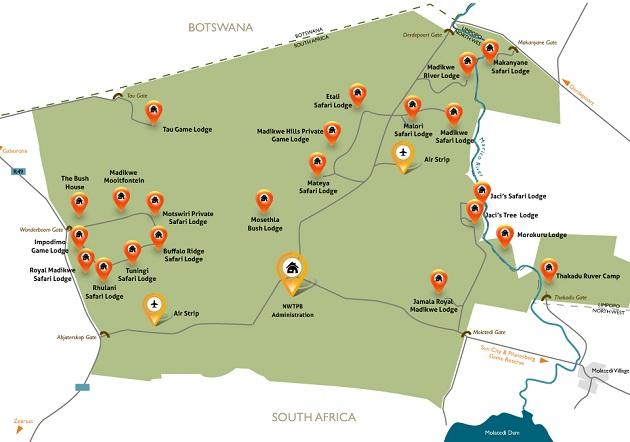 Madikwe Game Reserve Map