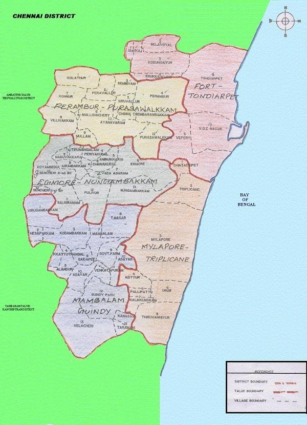 Map Chennai