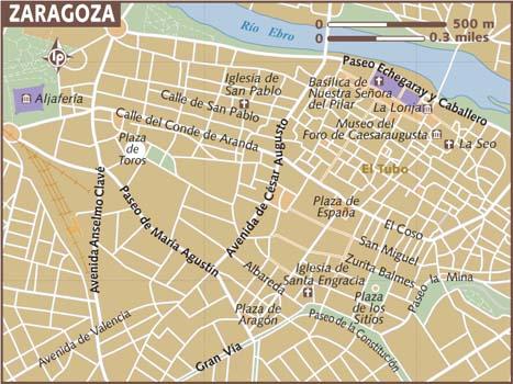 Map of Saragossa