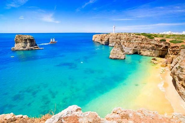 Sand Beaches of Algarve Portugal