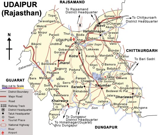 Udaipur Map