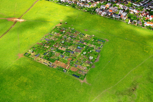 aerial view of port meadow oxford
