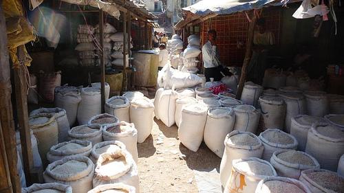 market of Sittwe, Burma